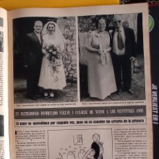 Coleccionismo de Revistas y Periódicos: UN MATRIMONIO DIVORCIADO SE CUELVE A CASAR 20 AÑOS DESPUES. Lote 257267805
