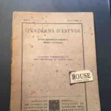 Coleccionismo de Revistas y Periódicos: ENSEÑANZA - QUADERNS D'ESTUDI REVISTA ESPECIAMENT DEDICADA A MESTRES I PROFESSOR. Lote 257304560
