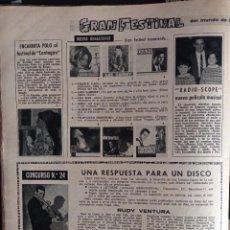 Coleccionismo de Revistas y Periódicos: FRANCE GALL LUIS GARDEY ENCARNITA POLO ALBERTO CORTEZ MINA. Lote 257355975