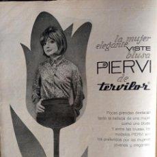 Coleccionismo de Revistas y Periódicos: ANUNCIO PIERVI TERVILOR. Lote 257356040