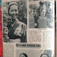 Coleccionismo de Revistas y Periódicos: RECORTE HIROKO OGI JAMES BOND GIRL 007. Lote 257356320