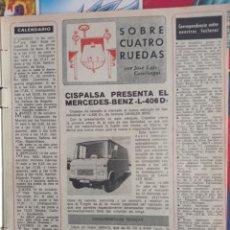 Coleccionismo de Revistas y Periódicos: MERCEDES BENZ L 406 D. Lote 257356340
