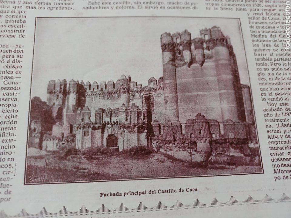 Coleccionismo de Revistas y Periódicos: REVISTA 1914 .CASTILLO DE COCA- BENLLIURE- MONASTERIO SAN JUAN DE LA PEÑA - PALACIO DE MARCHENA - Foto 3 - 257395705