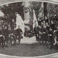 Collezionismo di Riviste e Giornali: TUNA DE LOGROÑO EN SAN SEBASTIÁN MONUMENTO USANDIZAGA 1917 FOTOGRAFÍA REVISTA. Lote 257445090