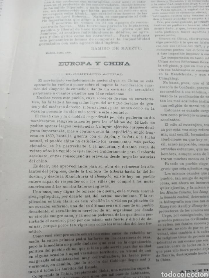 Coleccionismo de Revistas y Periódicos: REVISTA POLITICA Y PARLAMENTARIA. Director Gabriel Ricardo España, 32 números, casi completa. - Foto 19 - 257472870