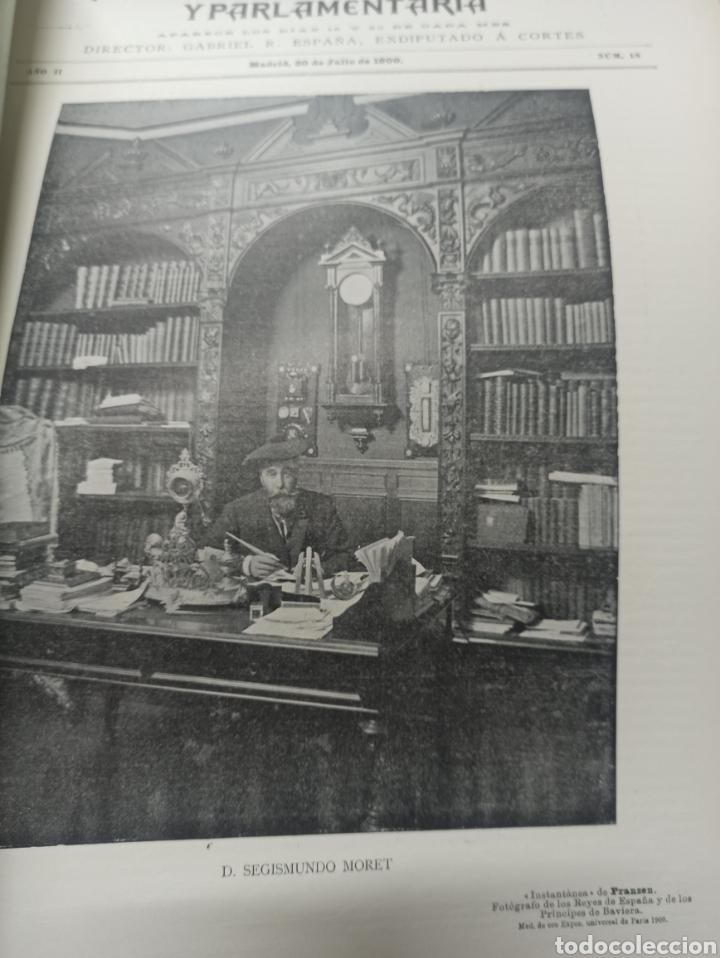 Coleccionismo de Revistas y Periódicos: REVISTA POLITICA Y PARLAMENTARIA. Director Gabriel Ricardo España, 32 números, casi completa. - Foto 20 - 257472870