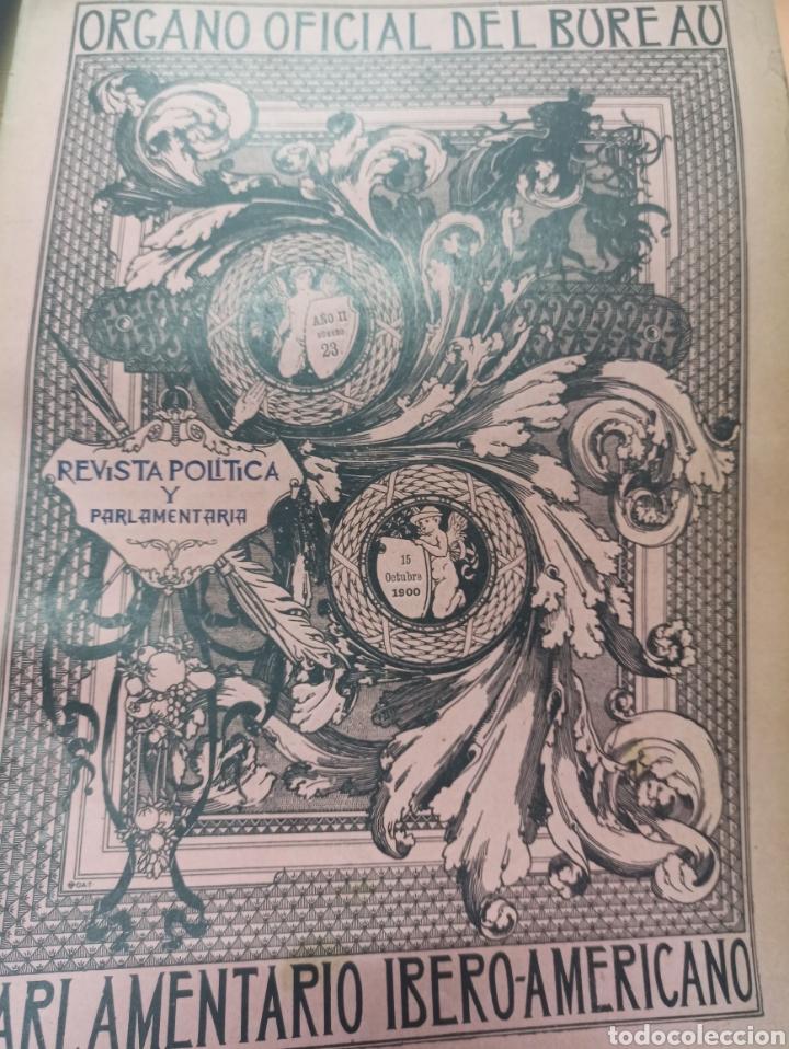 Coleccionismo de Revistas y Periódicos: REVISTA POLITICA Y PARLAMENTARIA. Director Gabriel Ricardo España, 32 números, casi completa. - Foto 23 - 257472870