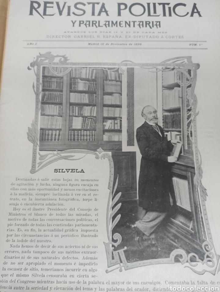 REVISTA POLITICA Y PARLAMENTARIA. DIRECTOR GABRIEL RICARDO ESPAÑA, 32 NÚMEROS, CASI COMPLETA. (Coleccionismo - Revistas y Periódicos Antiguos (hasta 1.939))