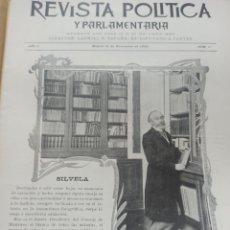 Coleccionismo de Revistas y Periódicos: REVISTA POLITICA Y PARLAMENTARIA. DIRECTOR GABRIEL RICARDO ESPAÑA, 32 NÚMEROS, CASI COMPLETA.. Lote 257472870