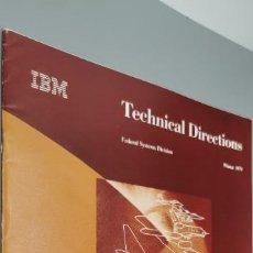Coleccionismo de Revistas y Periódicos: TECHNICAL DIRECTIONS IBM (PROGRAMA DE TRANSBORDADORES ESPACIALES (EE. UU.)   AÑO 1979 RARO. Lote 257481095