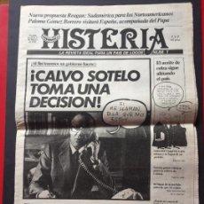 Coleccionismo de Revistas y Periódicos: HISTERIA Nº 1 MARZO 25 DE 1982. LA REVISTA IDEAL PARA UN PAIS DE LOCOS. Lote 257481775