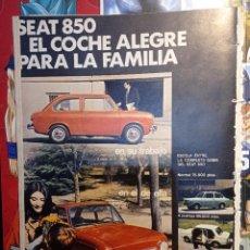 Coleccionismo de Revistas y Periódicos: ANUNCIO SEAT 850. Lote 257556695