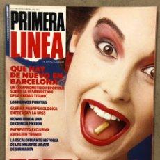 Coleccionismo de Revistas y Periódicos: PRIMERA LÍNEA N° 20 (1986). BOWIE, ESCLARECIDOS, MOVIDA BARCELONA, BODA BATERÍA REBELDES (LOQUILLO),. Lote 257833240