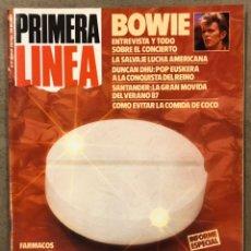 Coleccionismo de Revistas y Periódicos: PRIMERA LÍNEA N° 27 (1987). DAVID BOWIE, DUNCAN DHU, MOVIDA SANTANDER, INFORME DROGAS ILEGALES,. Lote 257840670