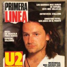 Coleccionismo de Revistas y Periódicos: PRIMERA LÍNEA N° 28 (1987). U2, SINIESTRO TOTAL, BARRIOS DUROS: VALLECAS, IBIZA, STALLONES, GAULTIER. Lote 257841095