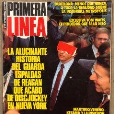 Coleccionismo de Revistas y Periódicos: PRIMERA LÍNEA N° 29 (1987). MIGUEL BOSÉ, JUAN GATTI, MARTIRIO, KIKO VENENO, KETAMA, TOM WAITS, DISCJ. Lote 257841535