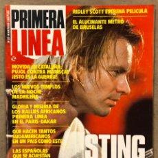 Coleccionismo de Revistas y Periódicos: PRIMERA LÍNEA N° 35 (1988). STING, PINK FLOYD, FRONT 242, MONTXO ALGORA, MARISCAL VS PUJOL,.... Lote 257844085