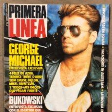 Coleccionismo de Revistas y Periódicos: PRIMERA LÍNEA N° 36 (1988). GEORGE MICHAEL, MECANO ALASKA HOMBRES G EN AMERICA, MOVIDA EN VITORIA,... Lote 257844510