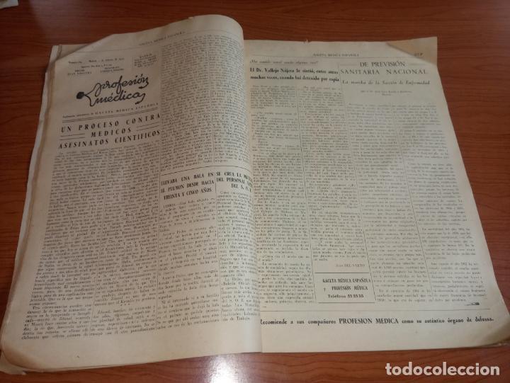 Coleccionismo de Revistas y Periódicos: GACETA MEDICA ESPAÑOLA FEBRERO 1953 AÑO XXVII Nº2 - Foto 3 - 258150155
