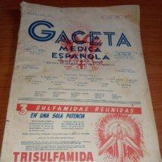 Coleccionismo de Revistas y Periódicos: GACETA MEDICA ESPAÑOLA FEBRERO 1953 AÑO XXVII Nº2. Lote 258150155