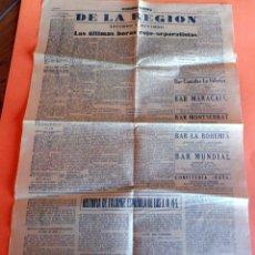 Coleccionismo de Revistas y Periódicos: PAG. 7 Y 8 DEL DIARIO DOLIDARIDAD NACIONAL 4 ABRIL 1939 - HISTORIA DE LA FALANGE - VER FOTOS. Lote 259273830