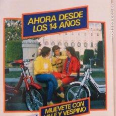Coleccionismo de Revistas y Periódicos: RECORTE CLIPPING DE ANUNCIO VESPA REVISTA SEMANA Nº 2253 PAG. 75 L37. Lote 259873600
