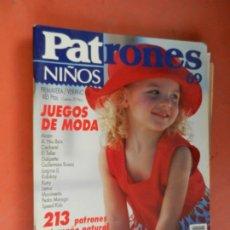 Colecionismo de Revistas e Jornais: PATRONES NIÑOS REVISTA - Nº 69 -PRIMAVERA VERANO -92 JUEGOS DE MODA CON PATRONES. Lote 259932975