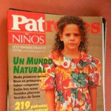 Colecionismo de Revistas e Jornais: PATRONES NIÑOS REVISTA - Nº 107-PRIMAVERA VERANO -95 UN MUNDO NATURAL CON PATRONES. Lote 259934215