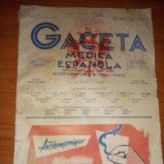 Coleccionismo de Revistas y Periódicos: GACETA MEDICA ESPAÑOLA JUNIO DE 1957 NºXXXI Nº6 369. Lote 260427945