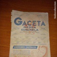 Coleccionismo de Revistas y Periódicos: GACETA MEDICA ESPAÑOLA AGOSTO DE 1953 AÑOXXVII Nº8. Lote 260428400