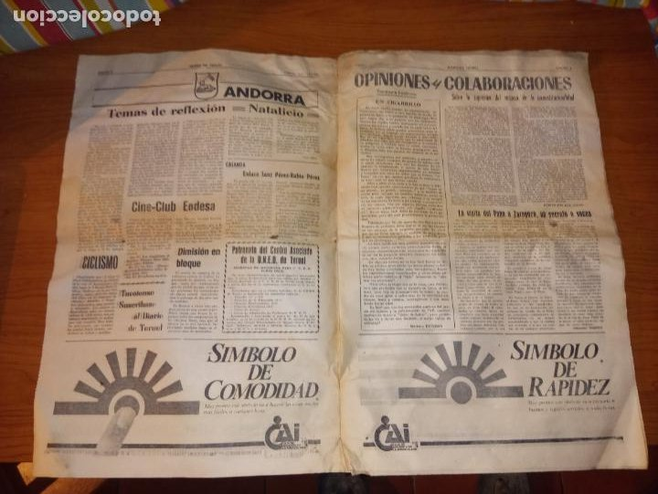 Coleccionismo de Revistas y Periódicos: DIARIO DE TERUEL 8 DE OCTUBRE DE 1986 - Foto 2 - 260428795
