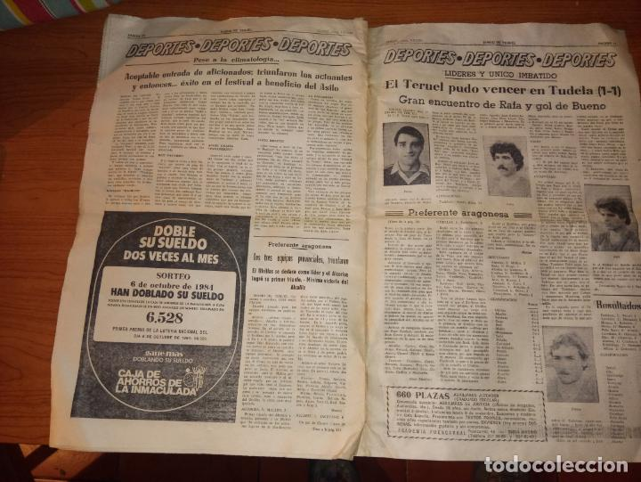 Coleccionismo de Revistas y Periódicos: DIARIO DE TERUEL 8 DE OCTUBRE DE 1986 - Foto 6 - 260428795