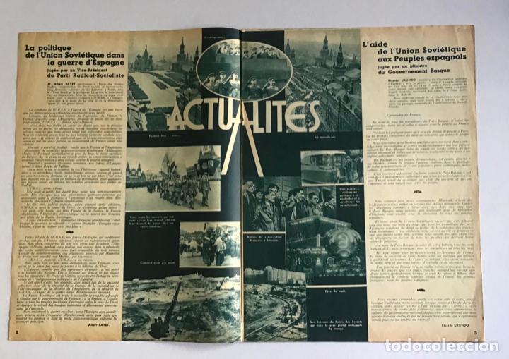 Coleccionismo de Revistas y Periódicos: LA RUSSIE DAUJOURDHUI, 1er Juin 1937, n.º 59. LU.R.S.S. ET LESPAGNE. - [Revista. Guerra Civil.] - Foto 2 - 260807190