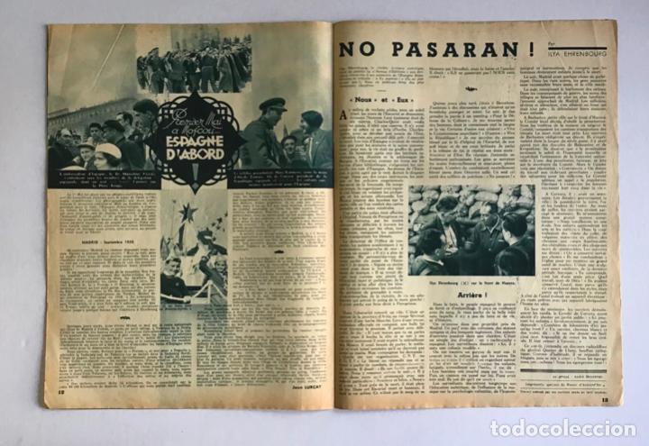 Coleccionismo de Revistas y Periódicos: LA RUSSIE DAUJOURDHUI, 1er Juin 1937, n.º 59. LU.R.S.S. ET LESPAGNE. - [Revista. Guerra Civil.] - Foto 5 - 260807190