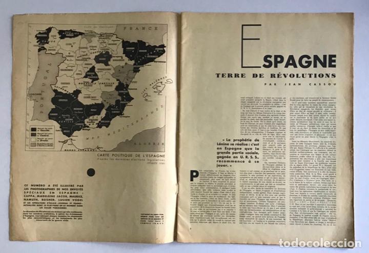 Coleccionismo de Revistas y Periódicos: VU EN ESPAGNE. LA DÉFENSE DE LA RÉPUBLIQUE. Número spécial. Samedi 29 aout 1936. Guerra Civil - Foto 2 - 260807505