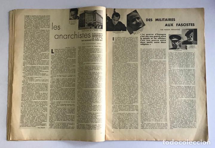 Coleccionismo de Revistas y Periódicos: VU EN ESPAGNE. LA DÉFENSE DE LA RÉPUBLIQUE. Número spécial. Samedi 29 aout 1936. Guerra Civil - Foto 4 - 260807505
