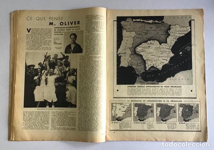 Coleccionismo de Revistas y Periódicos: VU EN ESPAGNE. LA DÉFENSE DE LA RÉPUBLIQUE. Número spécial. Samedi 29 aout 1936. Guerra Civil - Foto 6 - 260807505