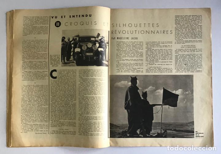 Coleccionismo de Revistas y Periódicos: VU EN ESPAGNE. LA DÉFENSE DE LA RÉPUBLIQUE. Número spécial. Samedi 29 aout 1936. Guerra Civil - Foto 8 - 260807505