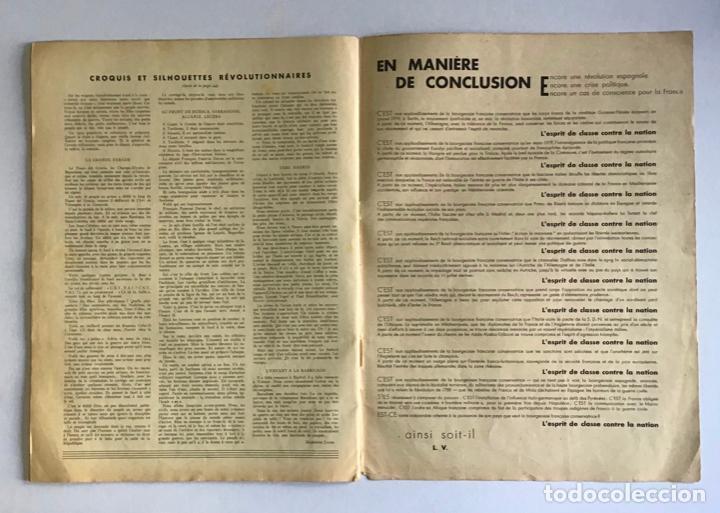 Coleccionismo de Revistas y Periódicos: VU EN ESPAGNE. LA DÉFENSE DE LA RÉPUBLIQUE. Número spécial. Samedi 29 aout 1936. Guerra Civil - Foto 11 - 260807505