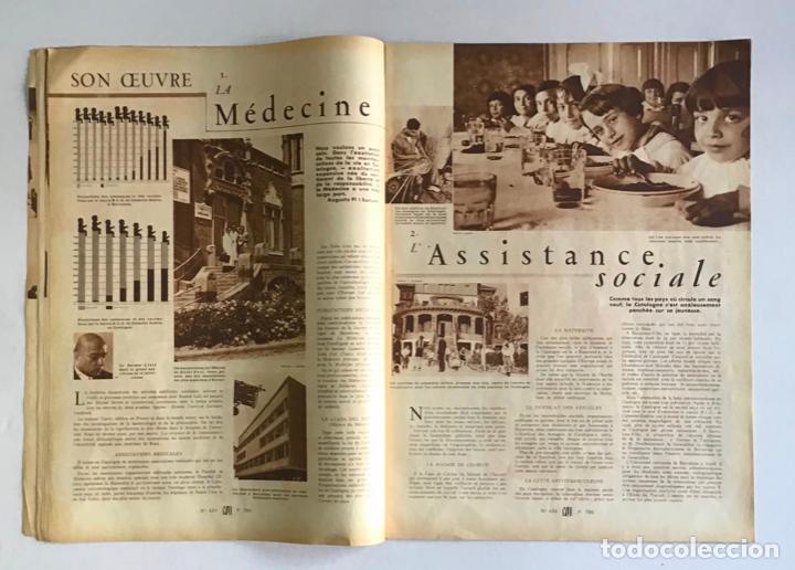 Coleccionismo de Revistas y Periódicos: VU. A LA DÉCOUVERTE DUN PAYS RESSUCITÉ. CATALOGNE. 9 anné, n.º 434. 8 julliet 1936. Guerra Civil - Foto 4 - 260808025