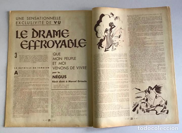 Coleccionismo de Revistas y Periódicos: VU. A LA DÉCOUVERTE DUN PAYS RESSUCITÉ. CATALOGNE. 9 anné, n.º 434. 8 julliet 1936. Guerra Civil - Foto 7 - 260808025