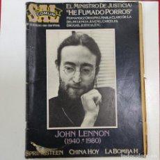 Coleccionismo de Revistas y Periódicos: REVISTA SAL COMUN JOHN LENNON (2775/21). Lote 260819830