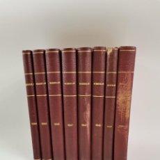 Sammeln von Zeitschriften und Zeitungen: L-5978. COLECCION REVISTA FOTOGRAFICA SOMBRAS, DEL AÑO 1944 AL 1952. 8 TOMOS ENCUADERNADOS.. Lote 260850485