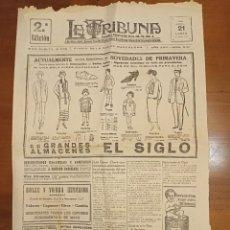 """Coleccionismo de Revistas y Periódicos: 1924 """"LA TRIBUNA"""" DIARIO DE LA NOCHE 2ª EDICIÓN BARCELONA - INFORMACIÓN GENERAL. Lote 261276350"""