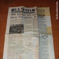 Coleccionismo de Revistas y Periódicos: LA MESTA SEMANARIO DEL SINDICATO VERTICAL DE GANADERIA DE 27-04-1963 CON SU PAPEL DE PRECINTO. Lote 261623855