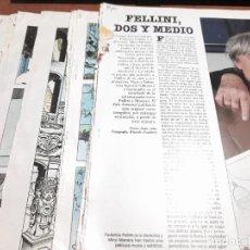 Coleccionismo de Revistas y Periódicos: FEDERICO FELLINI. MILO MANARA. ENTREVISTA + CAPÍTULOS SUELTOS DE VIAJE A TULUM. GRAPA.. Lote 261641595
