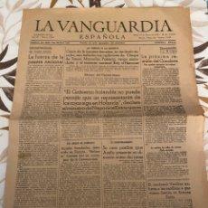 Coleccionismo de Revistas y Periódicos: LA VANGUARDIA ESPAÑOLA (BARCELONA, 25 DE FEBRERO DE 1939). Lote 261848220