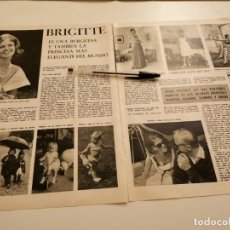 Coleccionismo de Revistas y Periódicos: PRINCESA BRIGITTE REVERSO PRÍNCIPE YUSSUPOFF EL HOMBRE QUE MATÓ A RASPUTIN RECORTE REVISTA 1965. Lote 261874085