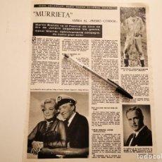 Coleccionismo de Revistas y Periódicos: MARLON BRANDO, OSKAR WERNER, SIMONE SIGNORET, JEFFREY HUNTER MURRIETA RECORTE REVISTA 1965. Lote 261876170