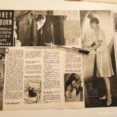 Coleccionismo de Revistas y Periódicos: AUDREY HEPBURN REVERSO MICHELE MORGAN, BODA ZSA ZSA GABOR TONY CURTIS RECORTE REVISTA 1965. Lote 261876430